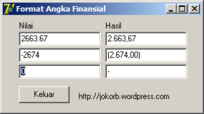 Format Angka Finansial