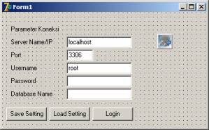 Desain Form Parameter Koneksi